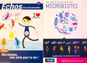 Livrets distribués à la conférence Ma santé passe par mes microbiotes