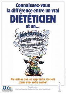 diététicien : affiche de la campagne de reconnaissance du métier