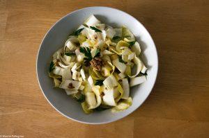salade d'endive, fromage et noix