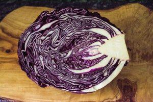 salade de chou rouge et sésame : chou rouge