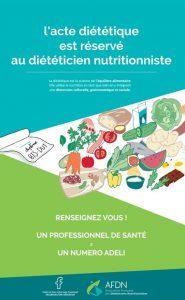 Les diététiciens : affiche AFDN