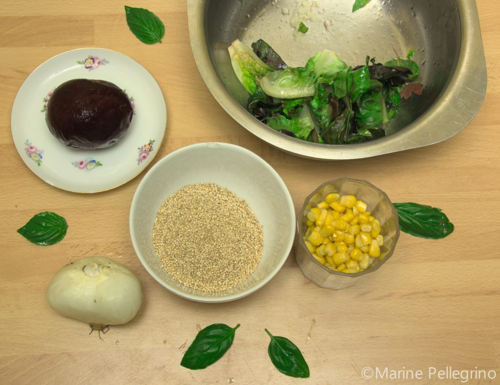 Salade de quinoa et crudités : ingrédients