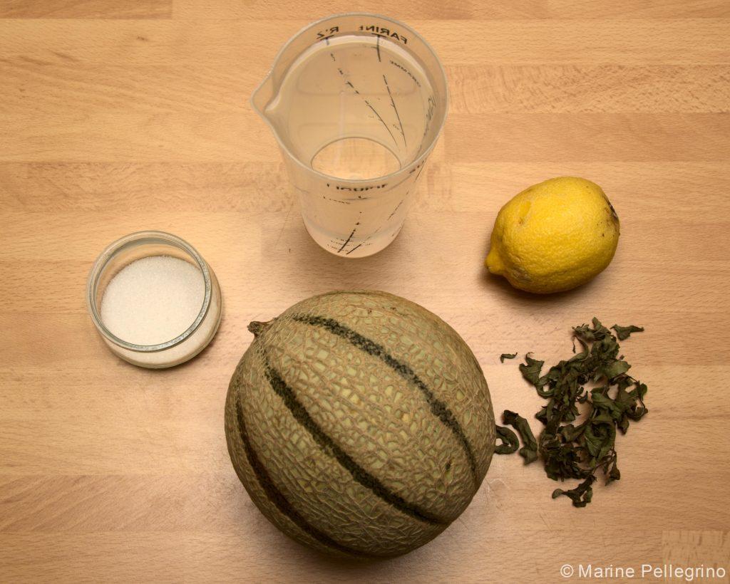 Soupe de melon et verveine : ingrédients