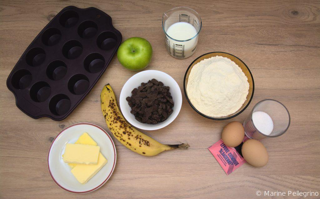 Mini muffins - ingrédients