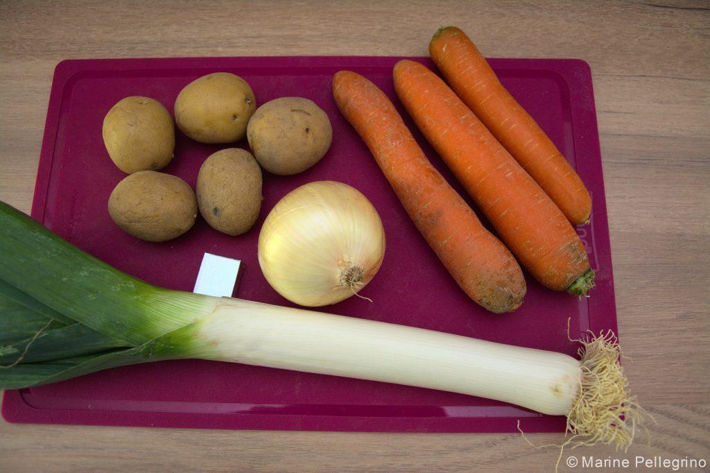 Soupe de légumes poêlés : ingrédients