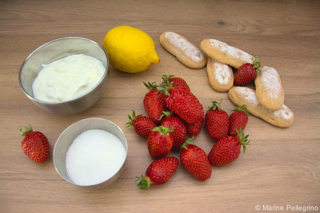 Charlottes aux fraises - ingrédients