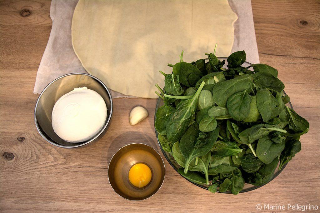 Feuilletés épinards-ricotta - ingrédients
